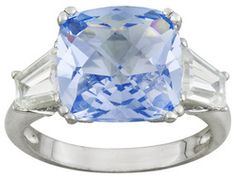 Bella Luce (R) 8.22ctw Rhodium Plated Sterling Silver Ring