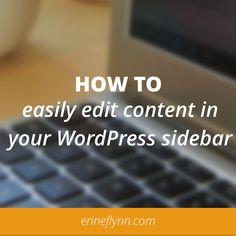 How to use the Black Studio TinyMCE plugin || www.erineflynn.com