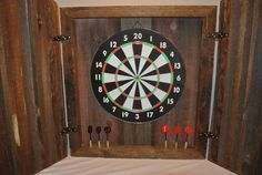 Custom Made Reclaimed Barn Wood Dart Board by TMBarnWoodDesigns, $150.00
