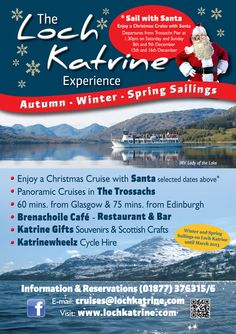Loch Katrine Christmas leaflet designed by G3 Creative Solutions.