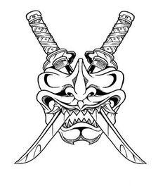 Resultado de imagem para samurai tribal design