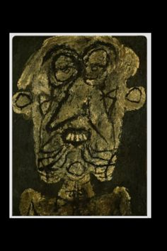 "Jean Dubuffet - ""Supervielle, large banner portrait"", 1945 - Oil on canevas - 130,2 x 97,2 cm"
