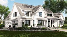 Modern Farmhouse Plan Rich with Features - 14662RK   Architectural Designs.  Interior layout needs work.