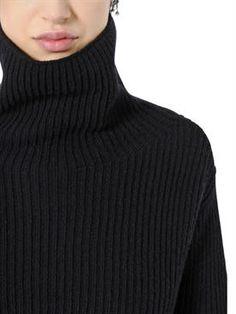 valentino - women - knitwear - cropped wool & cashmere sweater