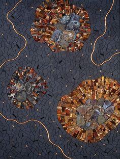 Meltdown 2006 by Sonia King, glass, ceramic, slate, chalcedony, pearls, shell, copper, bone, gold, smalti