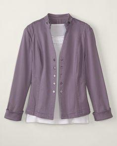 Coldwater Creek Urban Chic Jacket, Purple Pumice