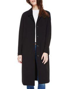Brands | Peacoats & Wool Coats  | Charlene Button-Front Coat | Hudson's Bay