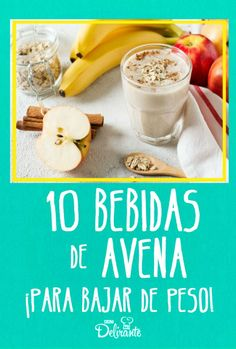 10 inexpensive oatmeal drinks to lose weight, easy recipes! - oatmeal smoothies for weight loss - Veggie Smoothies, Oat Smoothie, Oatmeal Smoothies, Smoothie Recipes, Healthy Juices, Healthy Drinks, Healthy Meal Prep, Healthy Weight, Sweet Crepes Recipe