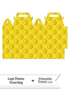 Yellow Lego Theme Treat Bag from PrintableTreats.com