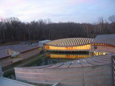 Crystal Bridges Museum of American Art,  Bentonville, Arkansas. 2011  Architect: Moshe Safdie