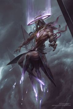 Hasmed, Angel of Annihilation.  By Pete Mohrbacher.  (Click for gallery with more.)