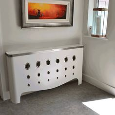 Art Deco radiator cover transformation. (From Modern Radiator Covers and Window Shutters)