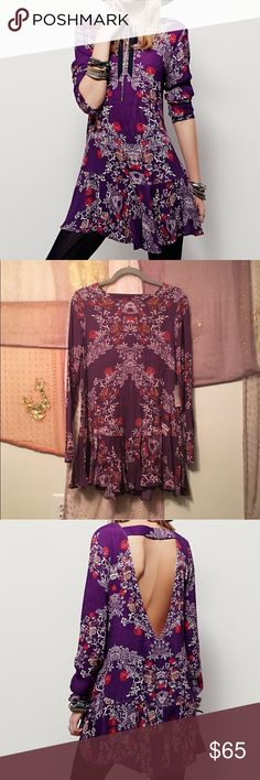 Free People Smooth Talker Floral Tunic Size S NWT Free People Smooth Talker Floral Tunic Size S. No trades. PRICE IS FIRM. Free People Tops Tunics