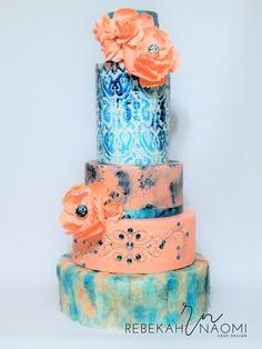 Ikat get enough of you - Cake by Rebekah Naomi Cake Design