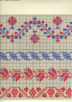 123 Cross Stitch, Cross Stitch Borders, Cross Stitch Designs, Cross Stitch Patterns, Fair Isle Knitting, Hand Knitting, Embroidery Patterns, Knitting Patterns, Wedding Cross Stitch