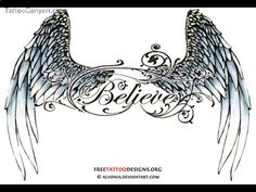 Small Angel Wings Tattoo | Small Triball Tattoo Design | Angel Wing Tattoos For Girls On Lower ...