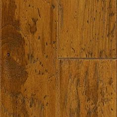 """Picture of Mannington Arrow Rock Hickory - Sunrise 5"""", call for pricing, medium brown hardwood, wide plank, 15 year warranty"""