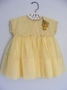 Vintage yellow baby dress. I can make one like this for your little girl...go to https://www.etsy.com/shop/MickieSueToo?ref=hdr_shop_menu to special order a dress like this one.