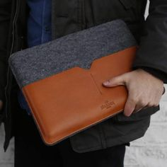 Harber London Leather Laptop Case For Macbook