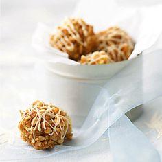 Peanut apple crunch balls Easy No-Bake Diabetic Dessert Recipes Diabetic Desserts, Low Carb Desserts, Diabetic Recipes, Low Carb Recipes, Diabetic Cookies, Healthy Recipes, Fun Recipes, Crockpot Recipes, Cereal Recipes
