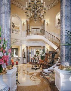 Luxury staircase ~Live The Good Life - All about Wealth & Luxury lifestyle mindfultravelbysara.com #luxury #lifestyle