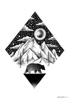 THIAGO BIANCHINI ILLUSTRATION - THE LONELY BEAR, 2016.