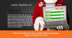 Email Marketing page Fusion Studios. Fly Around The World, Email Marketing, Studios, Website, Design