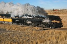 Union Pacific  Steam 4-6-6-4  Wyoming, USA   January 12, 2004 Locomotive No. UP 3985