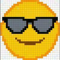 Cross Stitching, Cross Stitch Embroidery, Cross Stitch Patterns, Emoji Patterns, Loom Patterns, Pixel Pattern, Pattern Art, Perler Bead Emoji, Baby Boy Knitting Patterns