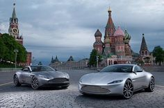 The spectacular DB11 and DB10 were on hand to celebrate the opening of the first Aston Martin dealer in Moscow today #astonmartin #DB10 #DB11 #cars #dealers #moscow