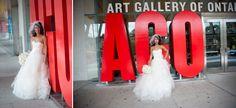 Art Gallery of Ontario bride in front of sign Art Gallery Of Ontario, Boston, Marriage, Sign, Weddings, Bride, Architecture, Couples, Casamento