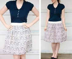 The 20-Minute Skirt! (tutorial)  This blog is so easy to understand... she explains things so well!