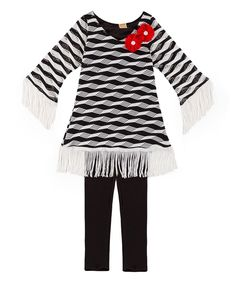 5fe59f5f87b1 This Mia Belle Baby Black   White Geometric Milly Tunic   Leggings -  Toddler   Girls by Mia Belle Baby is perfect!
