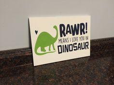 dinosaur nursery rawr means i love you in dinosaur green and navy dinosaur toddler room wood sign boy nursery baby boy dinosaur wall decor by JessieAnnCreations on Etsy https://www.etsy.com/listing/265782917/dinosaur-nursery-rawr-means-i-love-you