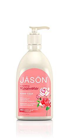 JASON Rosewater Hand Soap, 16 Ounce Jason Natural