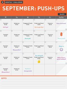 September Monthly Challenge: Push Ups http://allyfitness.blogspot.com/