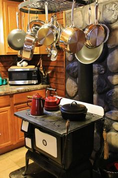 Wood burning stove --The cabin would be heated by a woodstove which would also be the means of cooking food.