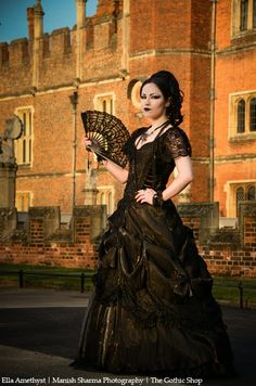 Model: Ella Amethyst Photo: Manish Sharma Photography Dress,cuffs : Sinister, necklace: Alchemy Gothic for The Gothic Shop Welcome to Gothic and Amazing |www.gothicandamazing.com