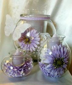 Clearly Creative Eclectic Trio in Purple Pour en voir plus / to see more: www.partylite.biz/francisguay