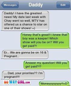 Parenting Text Fail - NoWayGirl