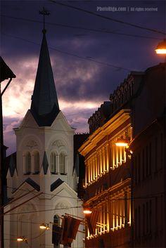 Pils street in Old Riga.