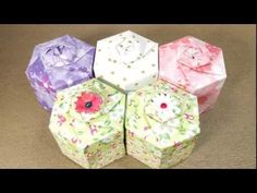 Hexagon Gift Box and Lid Origami Tutorial, 육각상자접기 - YouTube