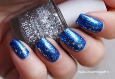 Beautiful wintery blue & silver nails for our @FAUX LASH competition #nails #nailart http://www.makeupbee.com/look.php?look_id=73051