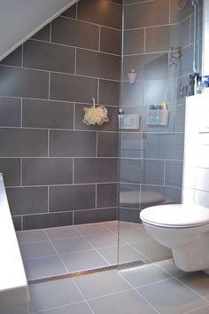 Loft Ensuite, Loft Bathroom, Bathroom Floor Tiles, Bathroom Colors, Bathroom Sets, Bathroom Interior, Attic Shower, Small Attic Bathroom, Upstairs Bathrooms