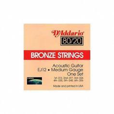 D'Addario EJ12 80/20 Bronze Medium Acoustic Guitar Strings by D'Addario. $5.99. Save 45% Off!