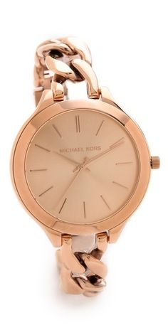 MK Slim Runway Twist Watch