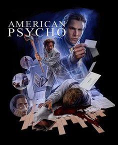 Best Movie Posters, Horror Movie Posters, Horror Movies, American Psycho Poster, Christian Bale, Fan Art, 2000s, Devon, Instagram