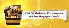 Buy gift baskets online shopping Canada food and candy such as gifts for Christmas