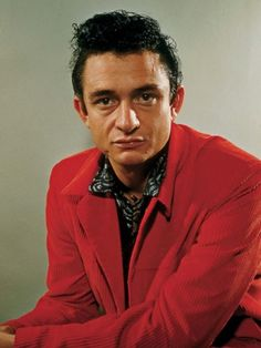 The man Usually in Black, Johnny Cash.