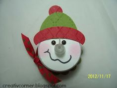 creativ corner: Tealight snowman